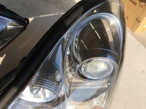 ドリームコート施工後のレクサスSC430ヘッドライトの状態3