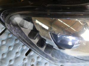ワーゲンポロのヘッドライトクラックの状態
