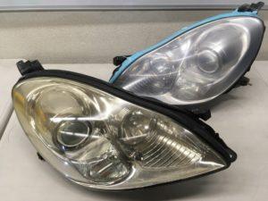 SC430のヘッドライトのクラックが発生した状態