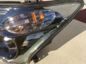 トヨタセルシオのクラックと黄ばみが発生したヘッドライトのリペア完了後