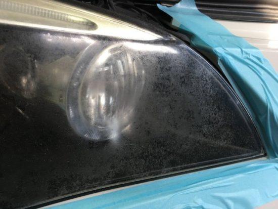 BMWのヘッドライト黄ばみの状態