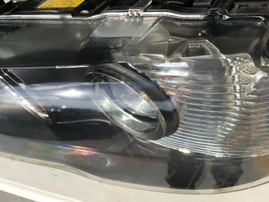 BMWのヘッドライトリペア完成時の状態