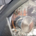 ルノーMEGANEのヘッドライトクラックの様子