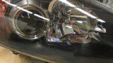 ホンダS2000のヘッドライト黄ばみ除去とクリア塗装施工 (7)