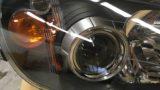 ホンダS2000のヘッドライト黄ばみ除去とクリア塗装施工 (8)