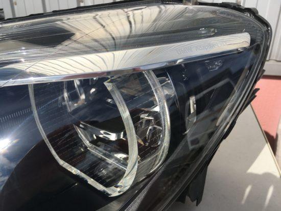 BMW6のヘッドライト黄ばみクラックリペア施工後 (4)