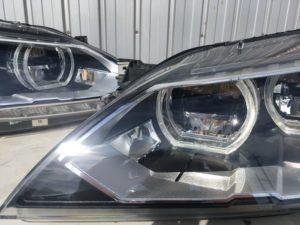 BMW6のヘッドライト黄ばみクラックリペア施工後 (7)