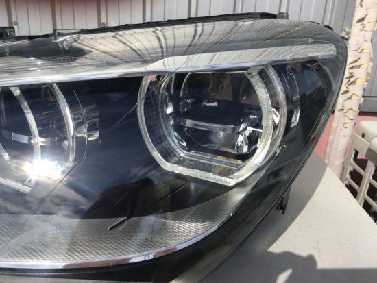 BMW6のヘッドライト黄ばみクラックリペア施工後 (8)