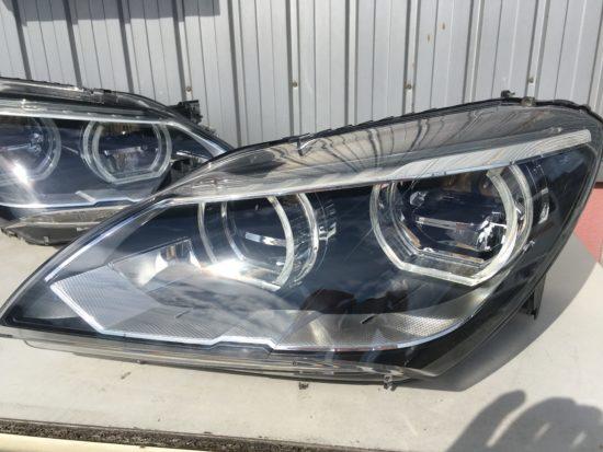 BMW6のヘッドライト黄ばみクラックリペア施工後 (9)